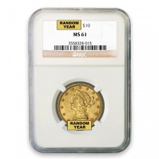 $10 Liberty Gold Eagle NGC MS61 Obverse