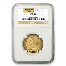 $10 Liberty Gold Eagle NGC MS62 (Random)