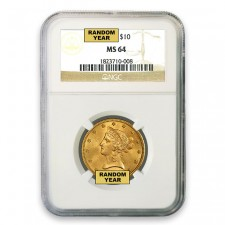 $10 Liberty Gold Eagle NGC MS64 (Random)