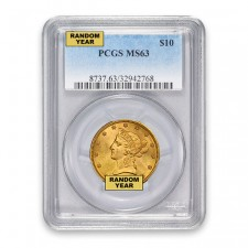$10 Liberty Gold Eagle PCGS MS63 (Random)