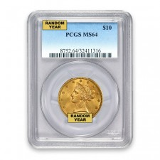 $10 Liberty Gold Eagle PCGS MS64 (Random)