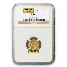 $2.50 Indian Gold Quarter Eagle NGC MS62 (Random)