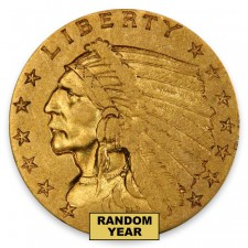 1908-1929 Random Date $2.50 Indian Quarter Eagle (LP)