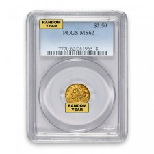 $2.50 Liberty Quarter Eagle PCGS MS62 (Random)