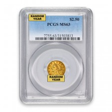 $2.5 Liberty Quarter Eagle PCGS MS63