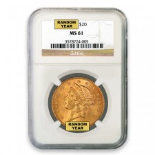 $20 Liberty Gold Double Eagle NGC MS61 Obverse