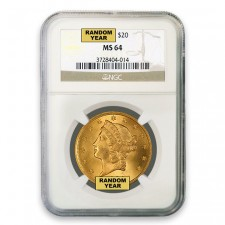 $20 Liberty Gold Double Eagle NGC MS64 Obverse