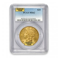 $20 Liberty Gold Double Eagle PCGS MS62 (Random)
