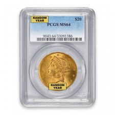 $20 Liberty Gold Double Eagle PCGS MS64 Obverse