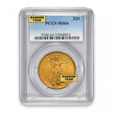 $20 Saint Gaudens Gold Double Eagle PCGS MS64 Obverse