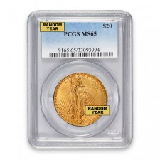 $20 Saint-Gaudens Double Eagle PCGS MS65 Obverse