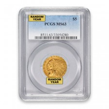 $5 Indian Gold Half Eagle PCGS MS63