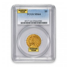 $5 Indian Gold Half Eagle PCGS MS64 Obverse