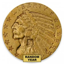$5 Indian Gold Half Eagle Extra Fine (XF) Random