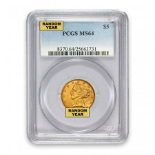 $5 Liberty Gold Half Eagle PCGS MS64 Obverse