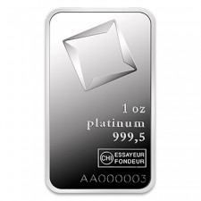 Valcambi 1 Oz Platinum Bar (In Assay)