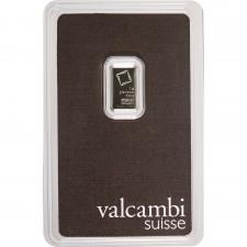 Valcambi 1 Gram Platinum Bar (In Assay)