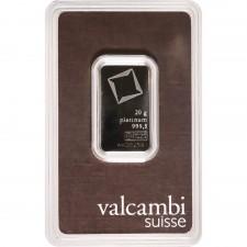 Valcambi 20 Gram Platinum Bar (In Assay)