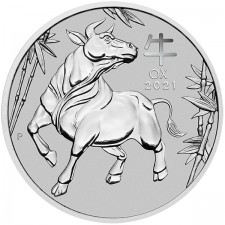 2021 1 Oz Australia Platinum Ox (BU)