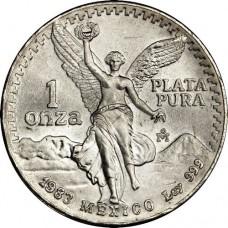 1982-1987 1 Oz Mexican Silver Libertad Coin (BU) (Random Date)