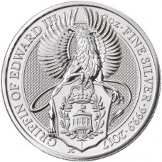 2017 UK 2 Oz Silver The Griffin of Edward III BU (Queen's Beasts Series)