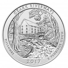 2017 Ozark Riverways 5 Oz Silver ATB Coin