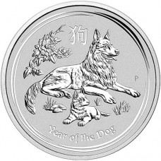 2018 Australia 1 Oz Silver Lunar Dog Coin (BU)