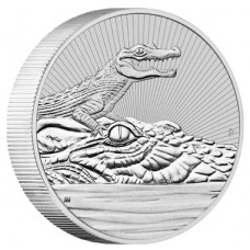 2019 Australia 2 oz Piedfort 'Next Generation Series' Silver Crocodile (BU)