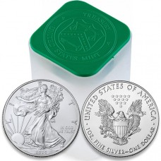 2020 1 Oz American Silver Eagle Roll/Tube of 20