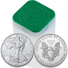 2021 1 Oz American Silver Eagle Roll/Tube of 20