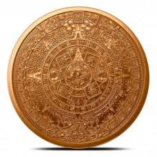 1 oz Copper Round | Aztec Calendar (BU)