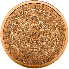 2 oz Copper Round | Aztec Calendar (BU)