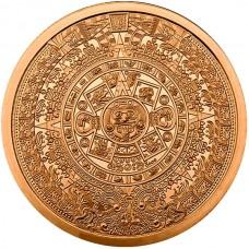 5 oz Copper Round | Aztec Calendar (BU)