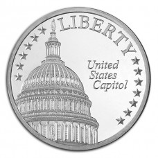 The U.S. Capitol 1 Oz Silver Round: Landmarks of Washington Series