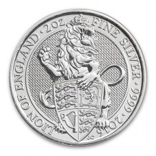 2016 UK 2 Oz Silver The Lion of England BU (Queen's Beasts Series)