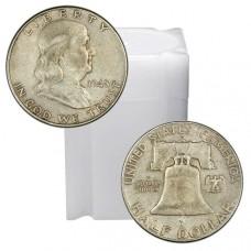 Tube of 90% Silver Franklin Half Dollars - $10 Face Value