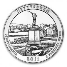 2011 Gettysburg 5 Oz Silver ATB Coin (BU)