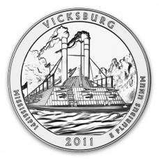 2011 Vicksburg 5 Oz Silver ATB Coin (BU)