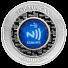 MintID 2 oz Silver Round Buffalo Design (BU, AES-128 Encrypted)